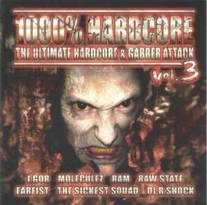 VA - 1000% Hardcore - The Ultimate Hardcore & Gabber Attack Vol. 3 (2007)